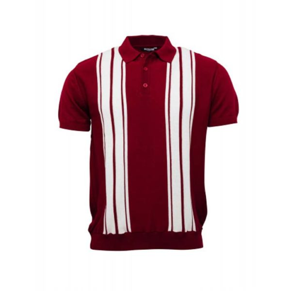 Knitted Polo Burgundy