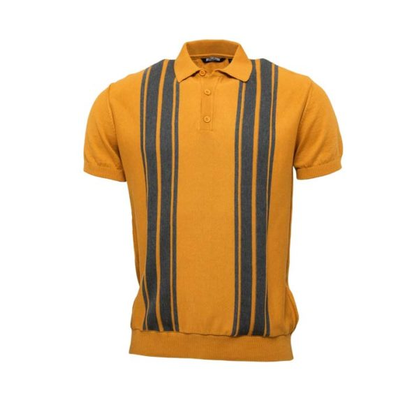 Knitted Polo Mustard