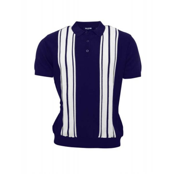 Knitted Polo Navy
